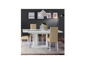 Стол LISA White Dining Room 180x104 + 1 вставка  45 см